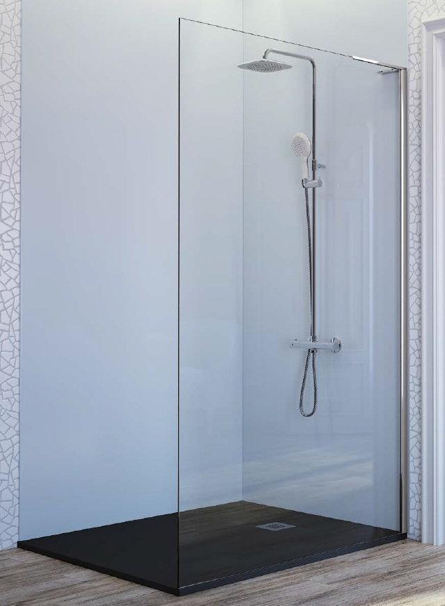 Resultado de imagen de ducha hoja cristal