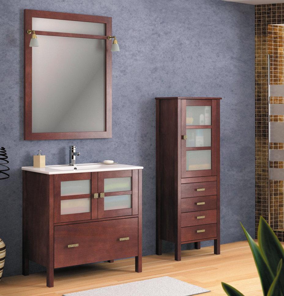 Batoni mueble de ba o de madera modelo caceres for Modelos de muebles de madera