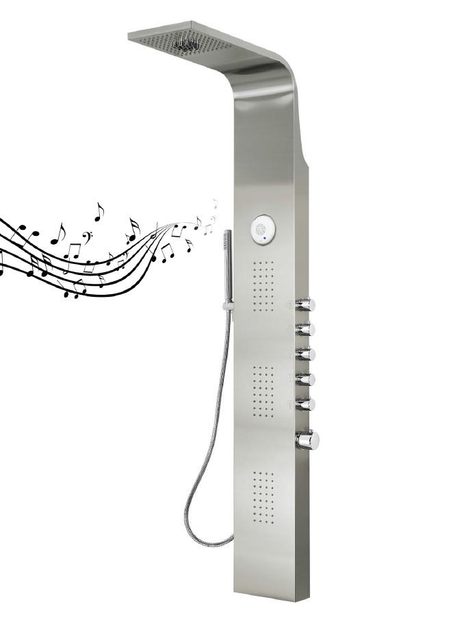 Columna de ducha hidromasaje aquassent serena termost tica - Torres de ducha ...