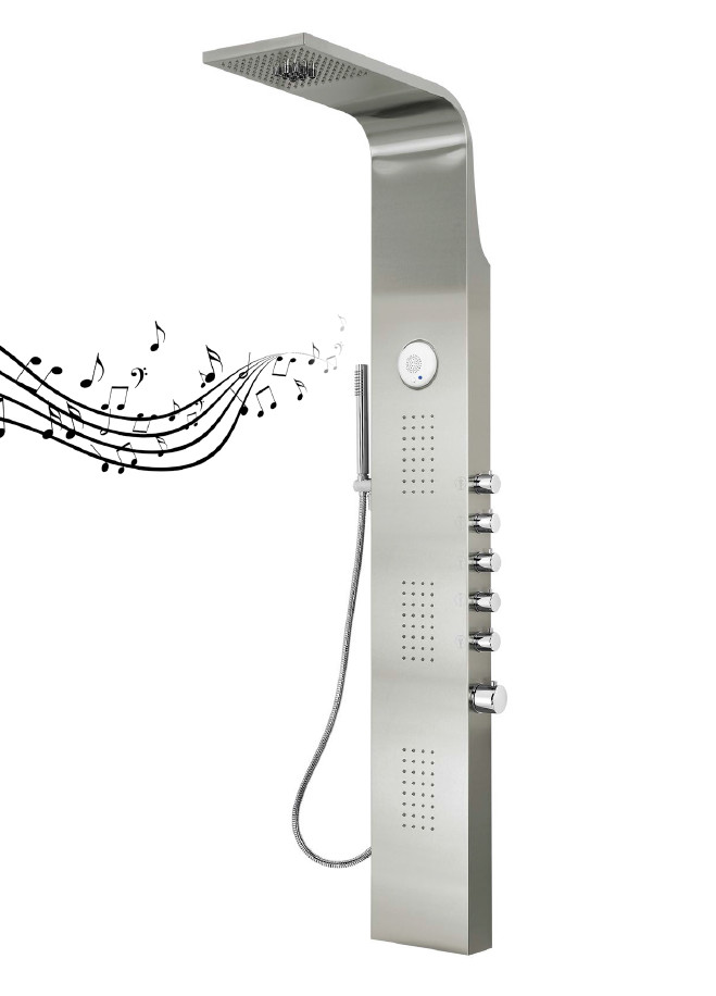 Columna de ducha hidromasaje aquassent serena termost tica for Columna termostatica