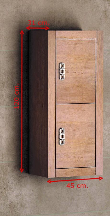 Mueble de ba o de madera batoni modelo palermo suspendido - Muebles auxiliares de bano para colgar ...