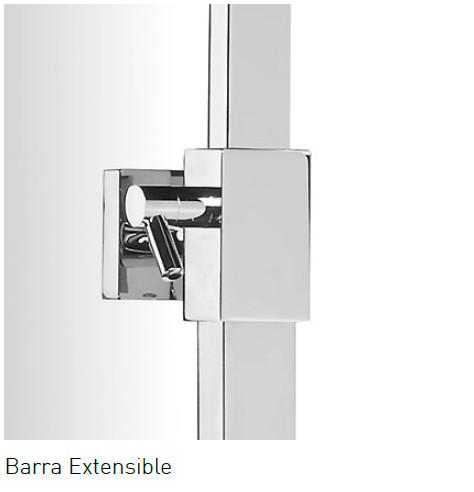 Barra de ducha aquassent tenerife termost tica for Barra ducha extensible