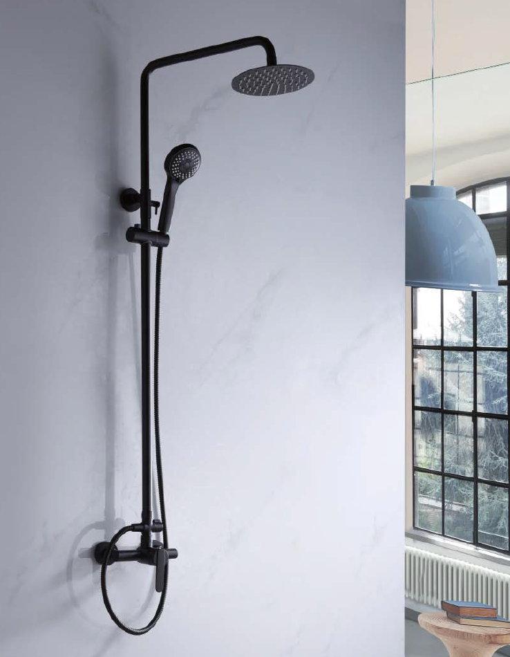 Barra de ducha imex roma monomando negra for Griferia para ducha precios