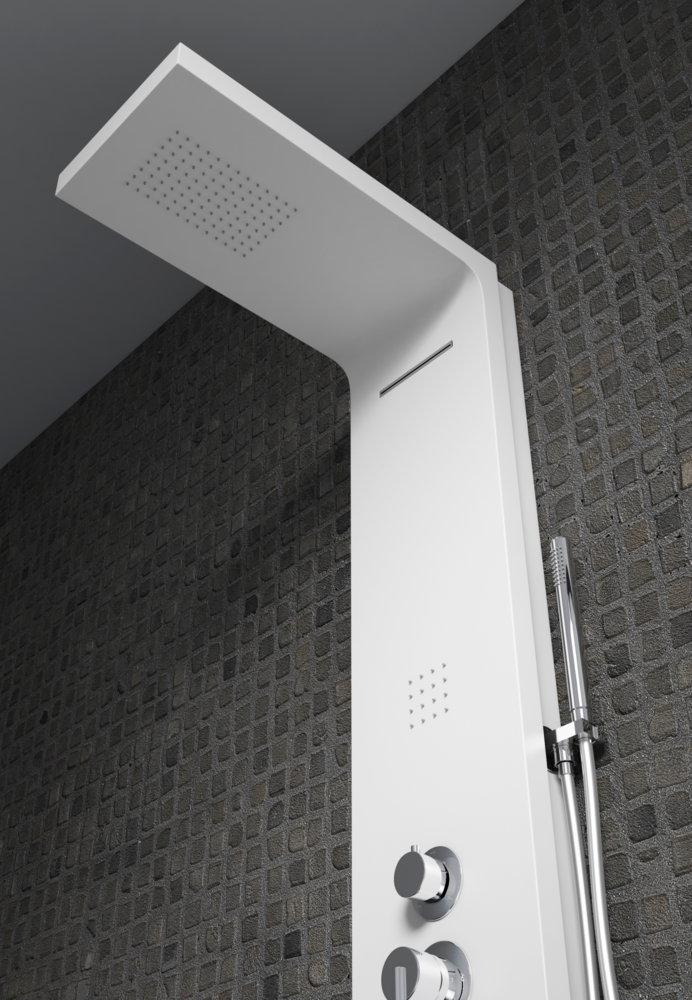 Columna de ducha hidromasaje sagobar h2o aiwe termost tica - Columnas de ducha termostaticas ...