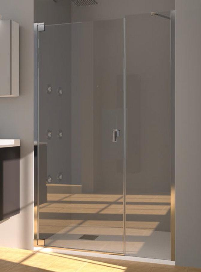 Mamparas ducha doccia bagdag de 1 fijo y 1 puerta abatible for Mampara ducha fijo abatible
