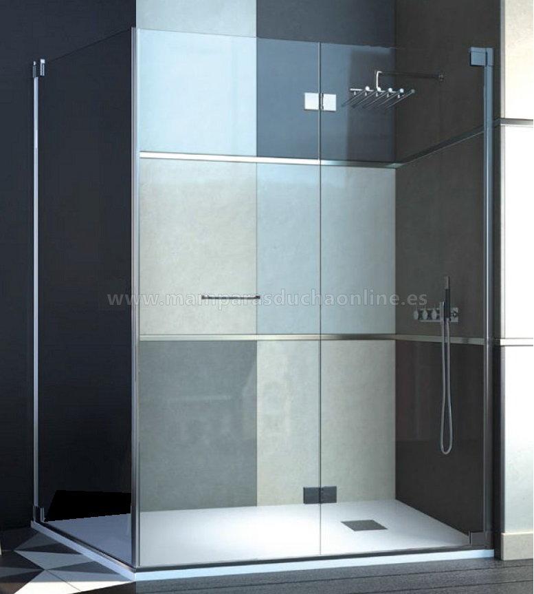 Mamparas ducha doccia frankfurt de 2 hojas plegables con - Mamparas ducha plegables ...