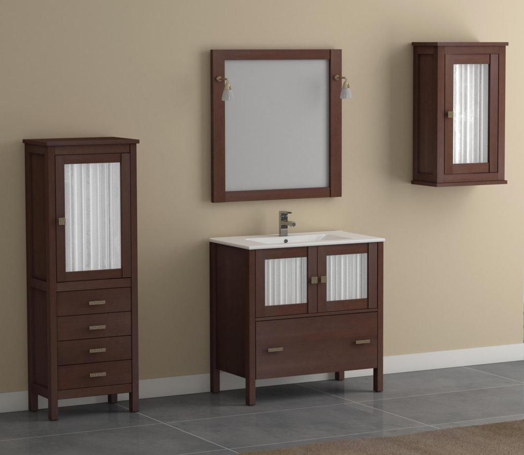 Mueble de ba o de madera batoni modelo cerler 80 cm - Muebles de bano para colgar ...
