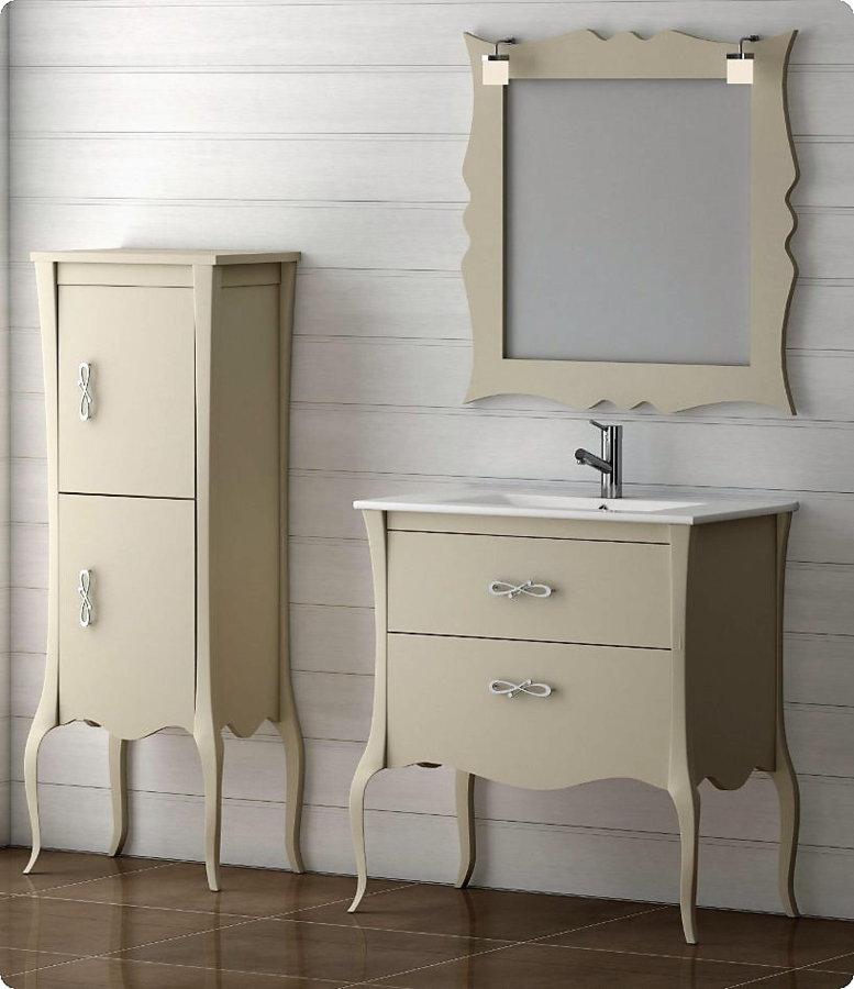 Mueble de ba o de madera batoni modelo niza 105 cm for Mueble bano de madera