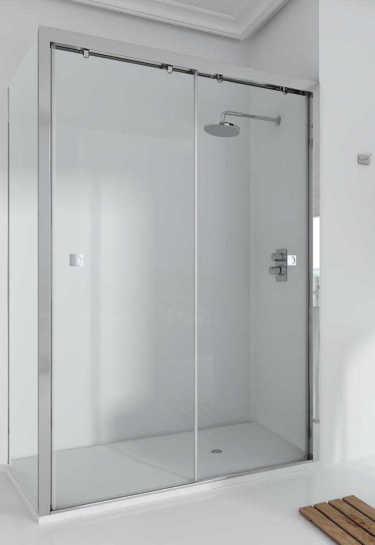 Mamparas ducha ecomampara duna lf de 2 hojas correderas - Plato de ducha y mampara ...