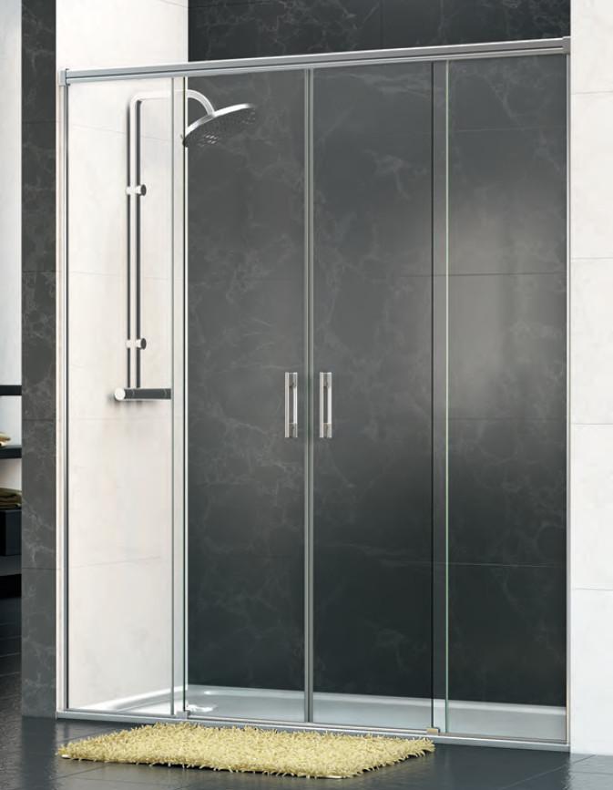 Mamparas ducha ibercris eloa 4p de 2 fijos y 2 correderas - Mamparas de ducha online ...