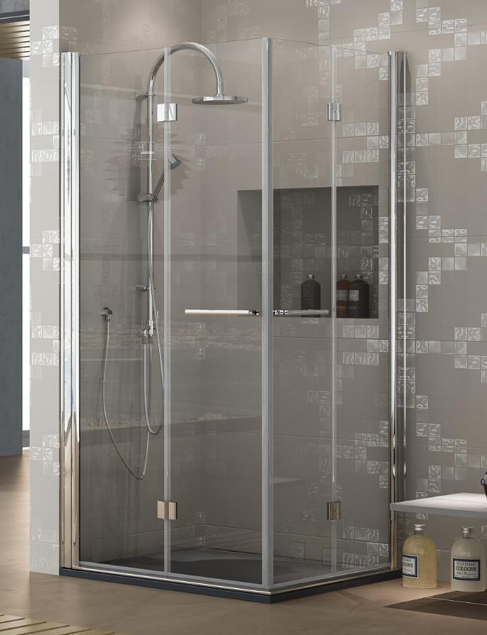 Mamparas ducha hidroglass lena de 4 hojas plegables for Mamparas plegables para ducha