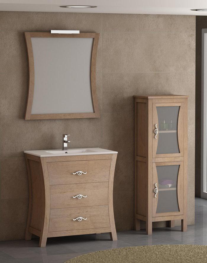 Batoni mueble de ba o de madera modelo bohemia for Mueble bano de madera