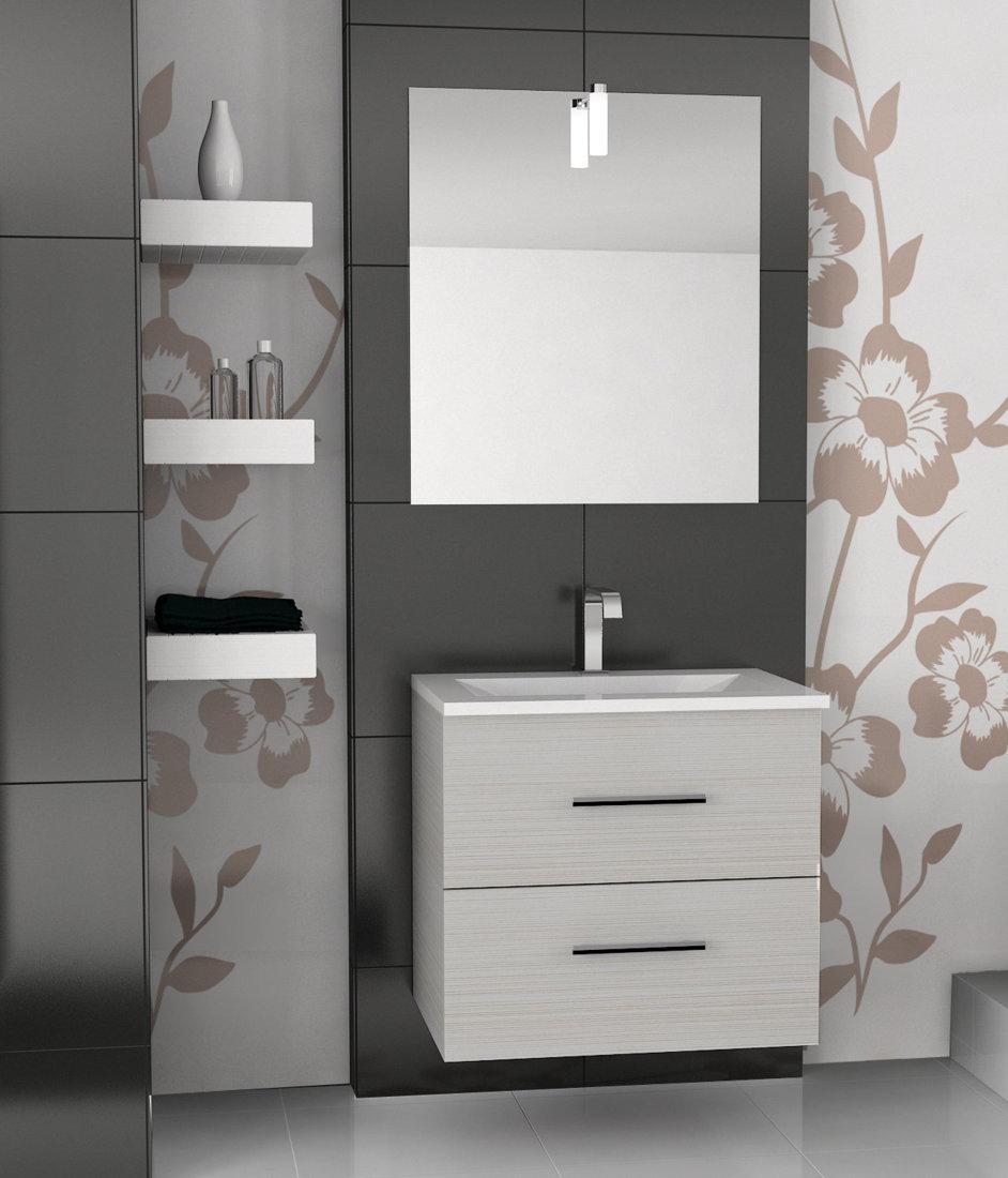 Viberco mueble de ba o suspendido modelo lydia 70 cm for Muebles de bano 70 x 40