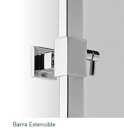 Barra de ducha aquassent grecia monomando for Barra ducha extensible