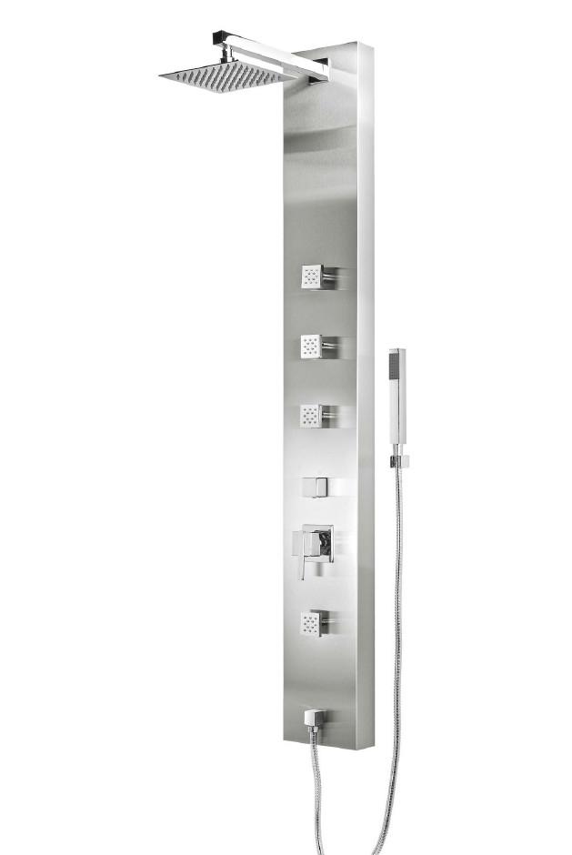 Columna de ducha hidromasaje aquassent calpe monomando for Monomando para ducha