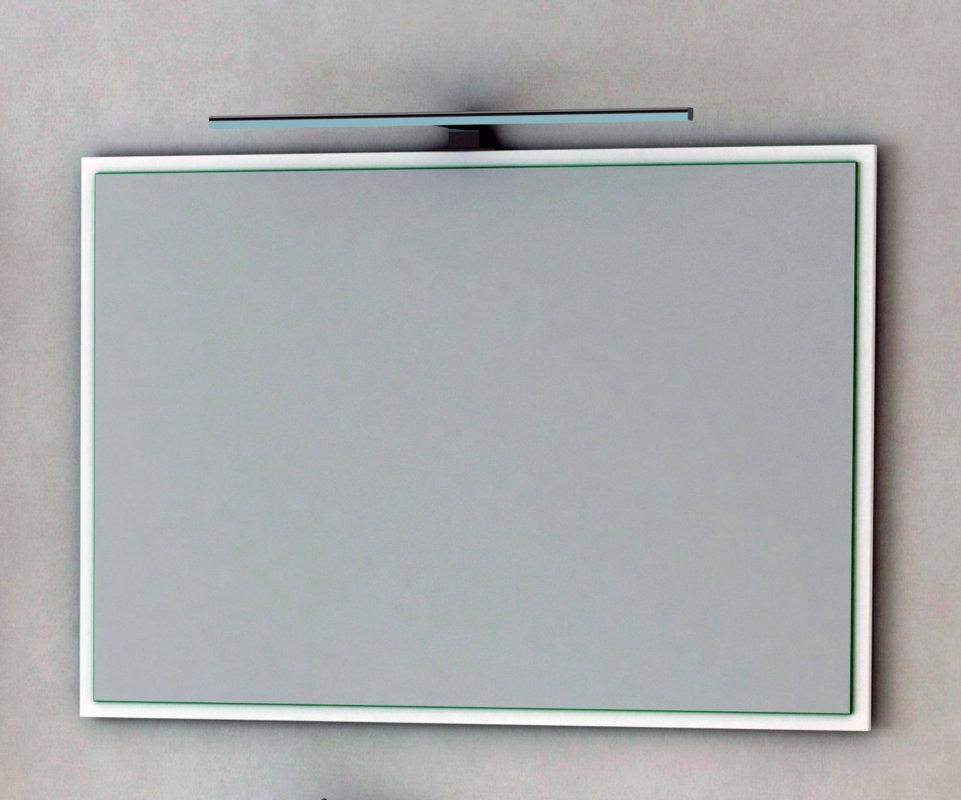 Espejo de ba o batoni blanco brillo - Batoni muebles de bano ...