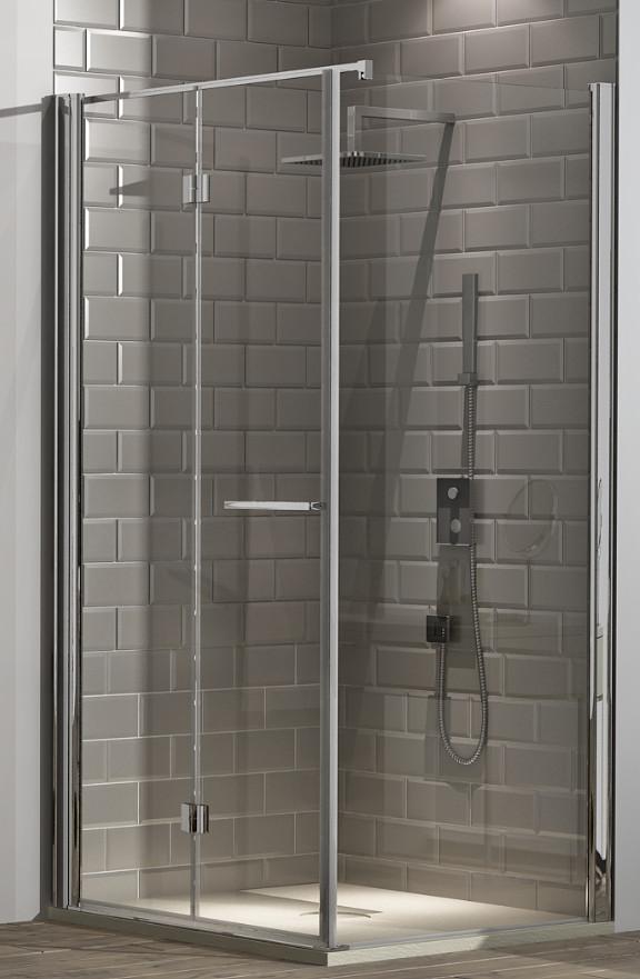 Hidroglass mampara ducha hidroglass tarim de 2 hojas for Mamparas plegables para ducha