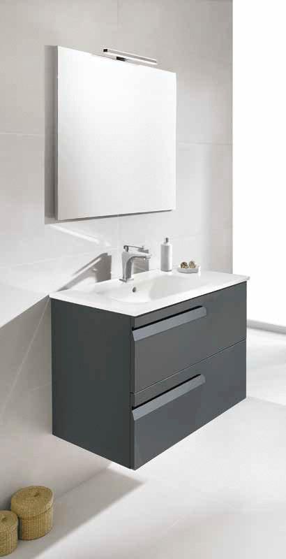 Mueble de ba o royo modelo vitale suspendido de 60cm for Mueble 45 cm ancho