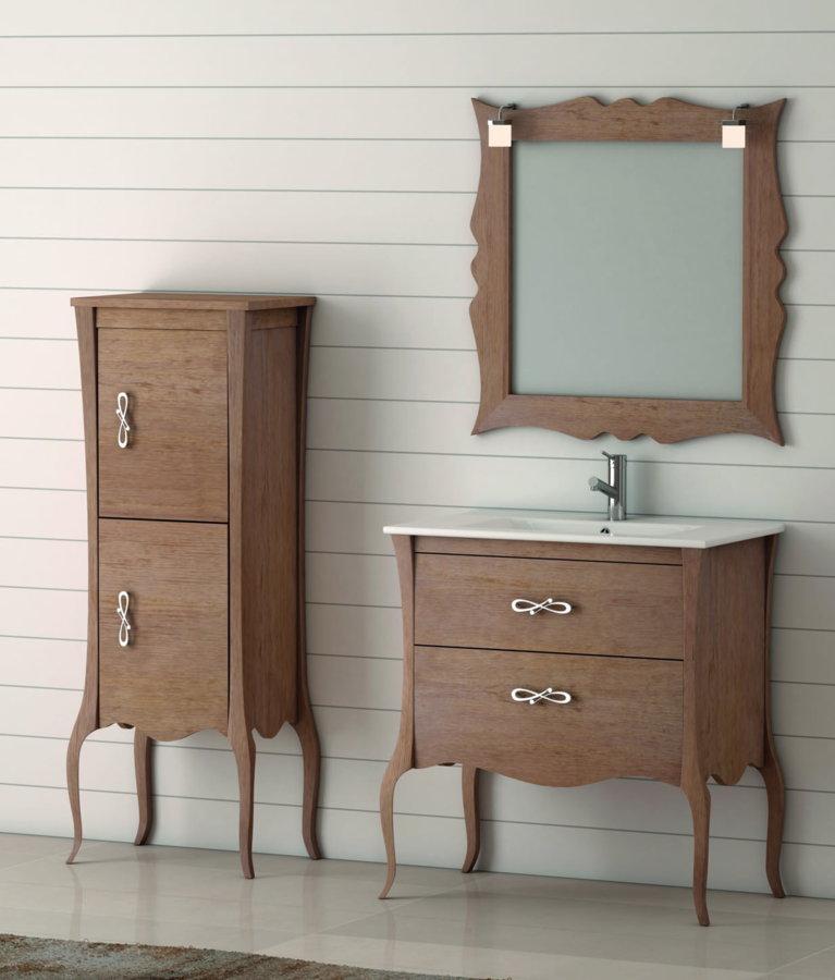 Mueble de ba o de madera batoni modelo niza 85 cm - Bano de madera ...
