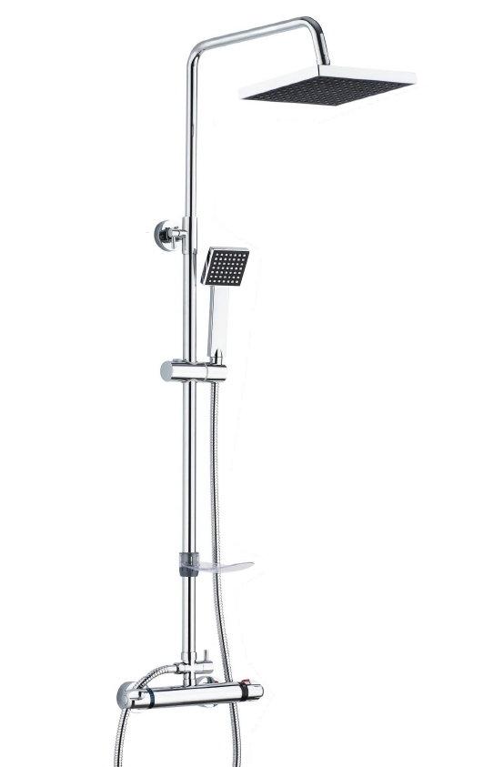 Barra de ducha ug modelo ug31012 extensible termost tica for Barra ducha extensible