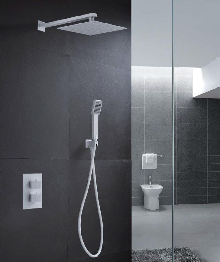 imex grifer a empotrada de ducha blanca cies termost tica