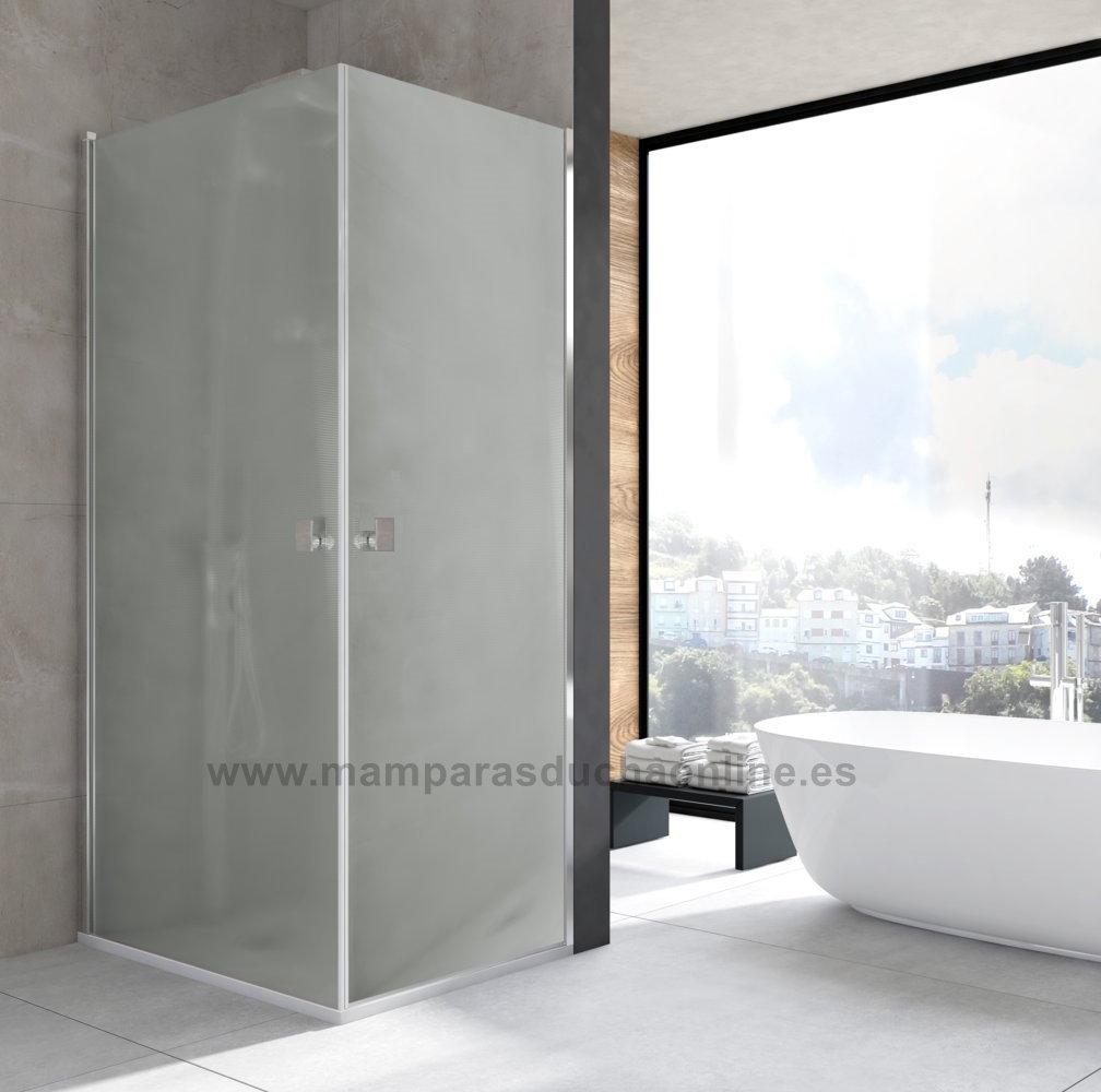 mampara de ducha v b open carglass de 2 hojas abatibles abierta al v rtice. Black Bedroom Furniture Sets. Home Design Ideas