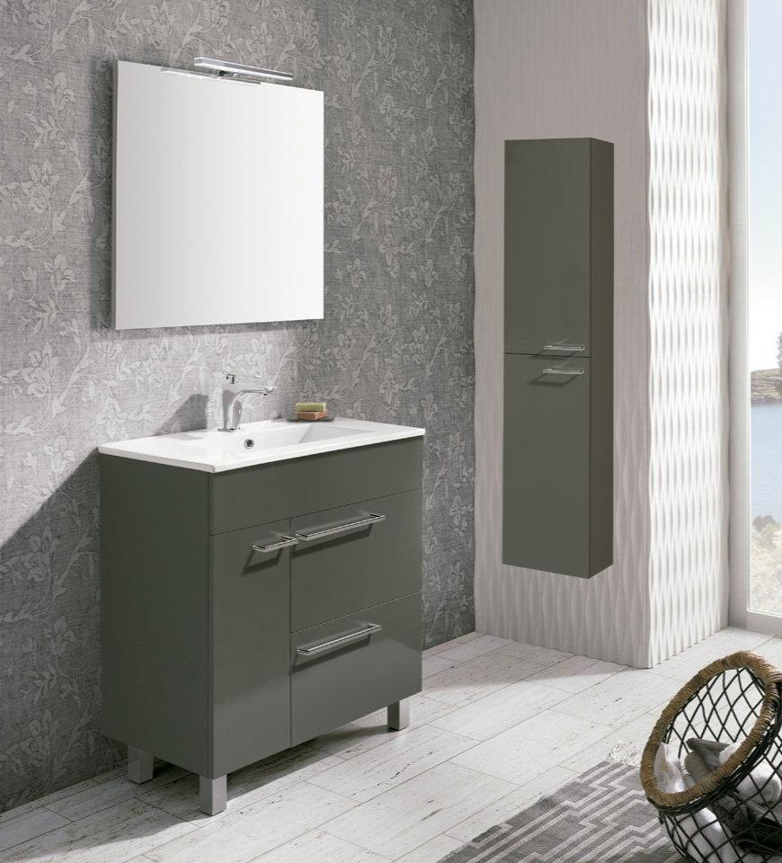 Mueble de ba o royo modelo confort 80cm con patas fondo for Mueble 80 cm ancho
