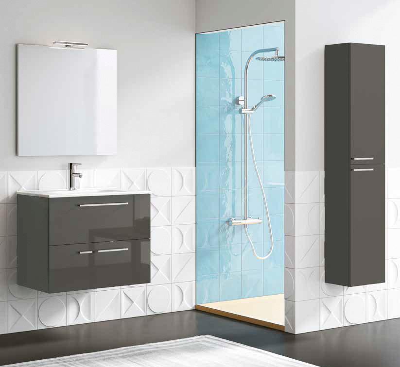 Mueble de ba o royo modelo easy suspendido de 70cm fondo for Muebles de lavabo de 70 cm