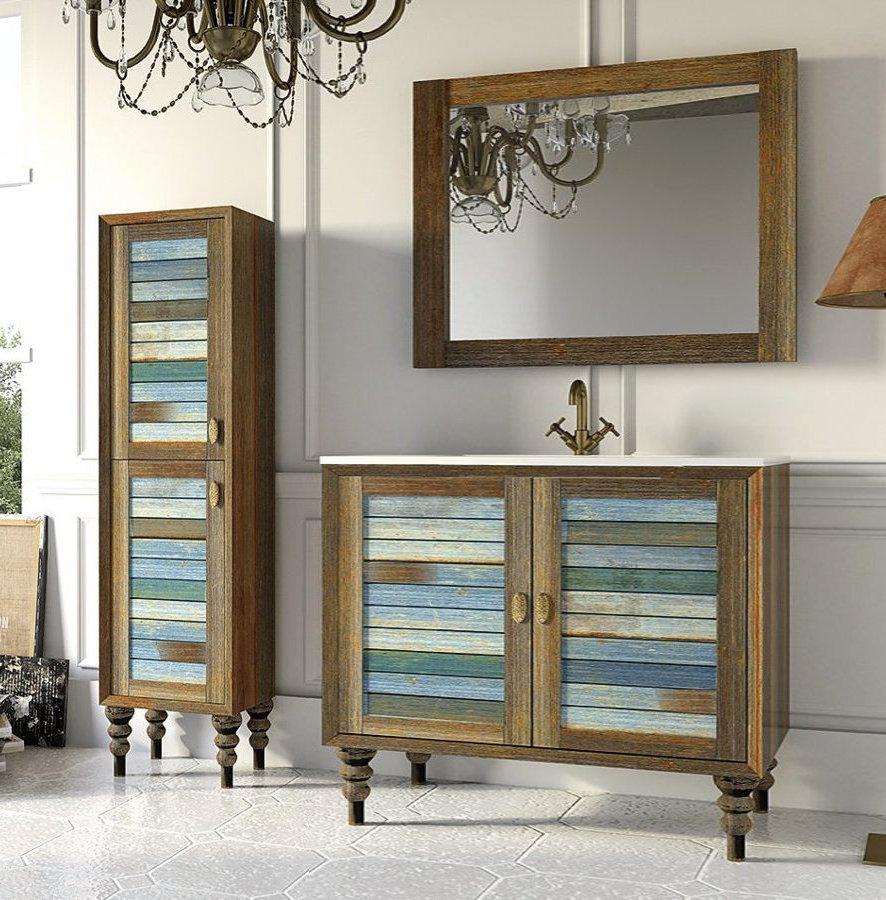 Mueble de ba o de madera stylo modelo vintage con patas 100 cm - Mueble bano vintage ...