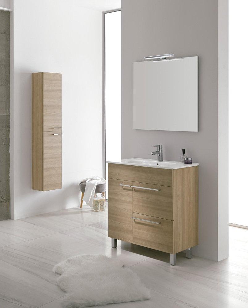 Mueble de ba o royo modelo confort 70 cm con patas fondo for Mueble 45 cm ancho