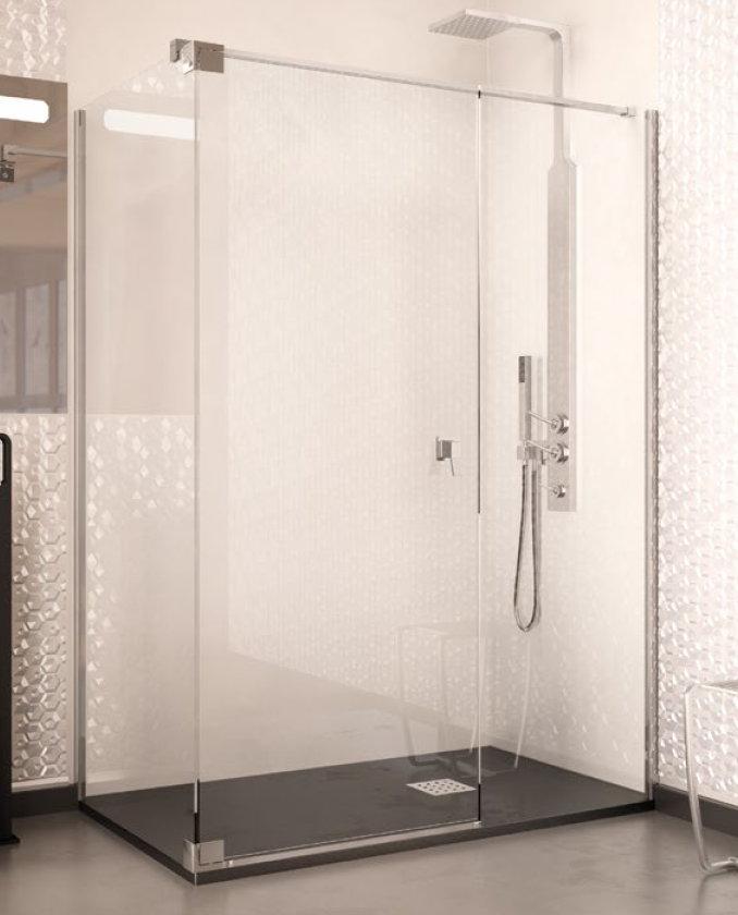 Mamparse ducha doccia atlanta de 1 fijo y 1 puerta for Mampara ducha fijo abatible