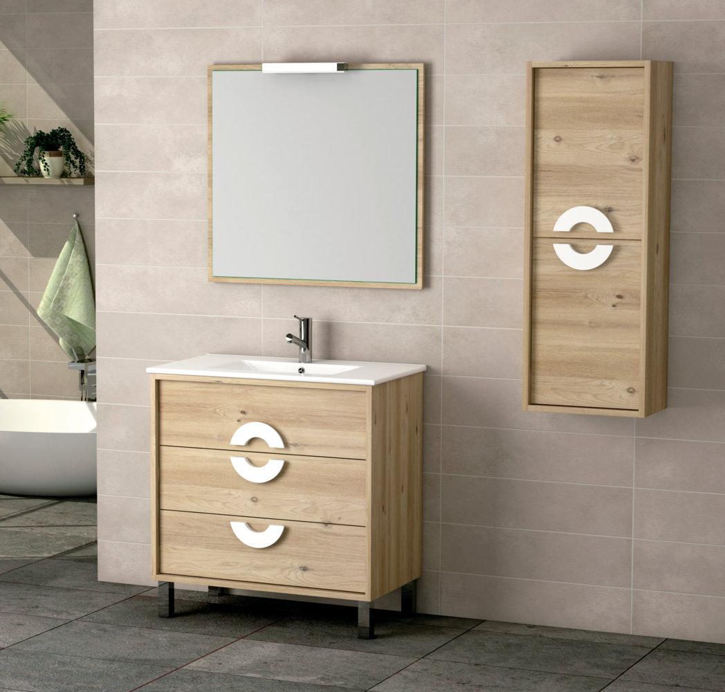 Mueble de ba o batoni modelo alida con patas 80 cm - Batoni muebles de bano ...