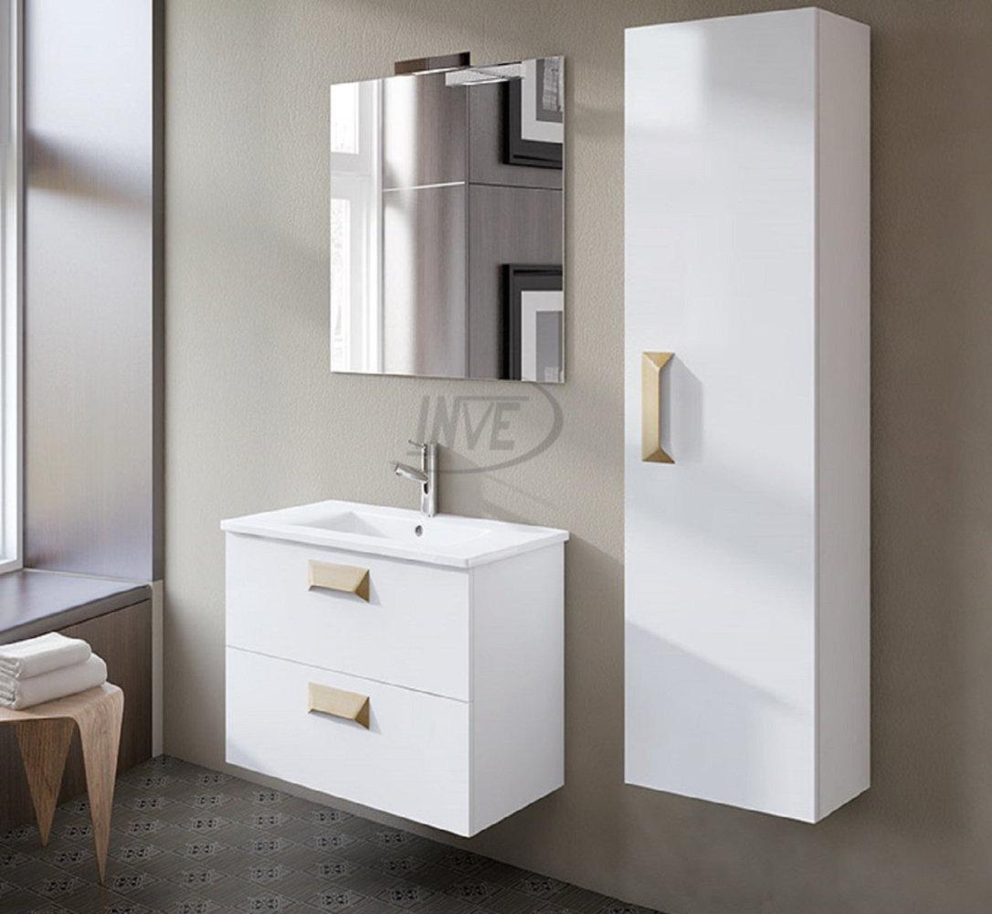 Inve mueble de ba o modelo alberta suspendido blanco de 60cm for Muebles de bano 60 x 45