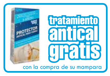 Mamparas ducha gme vetrum 1 fijo 1 corredra for Tratamiento antical mamparas
