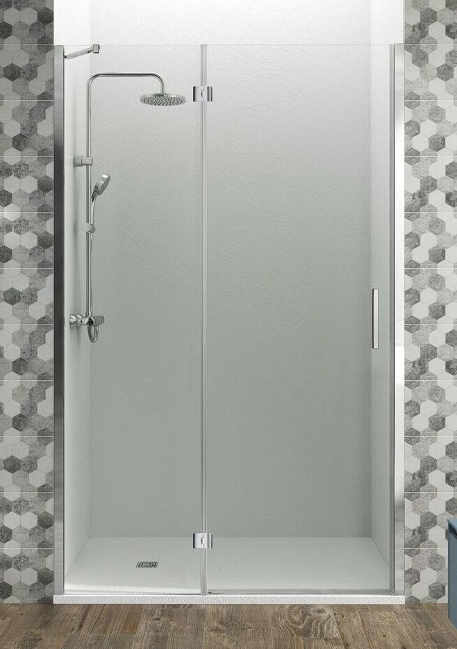 Mamparas ducha gme glass combi d de 1 fijo y 1 hoja abatible for Perfil mampara ducha