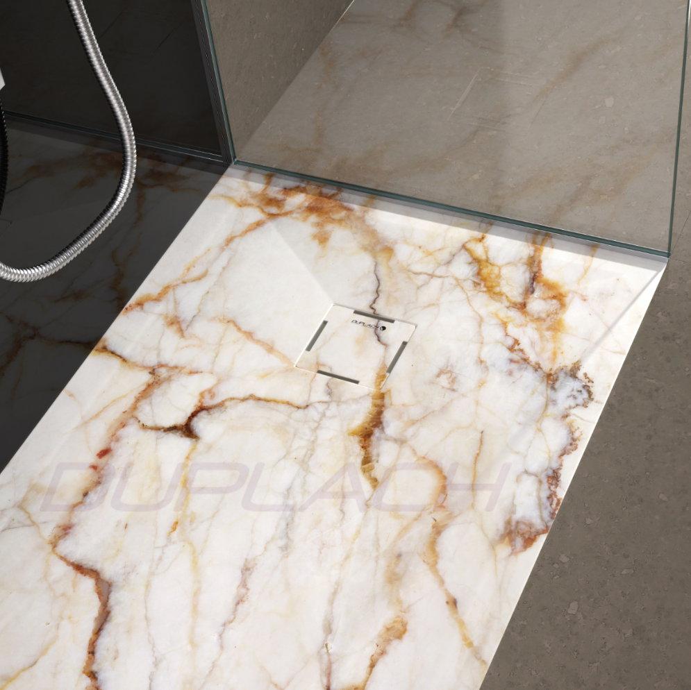 Plato ducha duplach stone 3d marmol crema - Platos de ducha de marmol ...