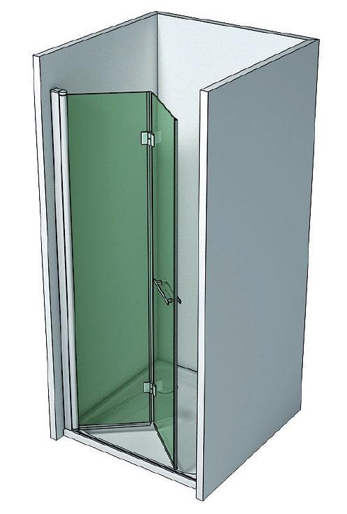 Mampara de ducha v b h3 de 2 hojas plegables - Mamparas de ducha plegables ...