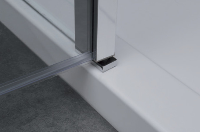 6mm mamparas ducha gme open 1 fijo 1 puerta abatible con for Perfil mampara ducha