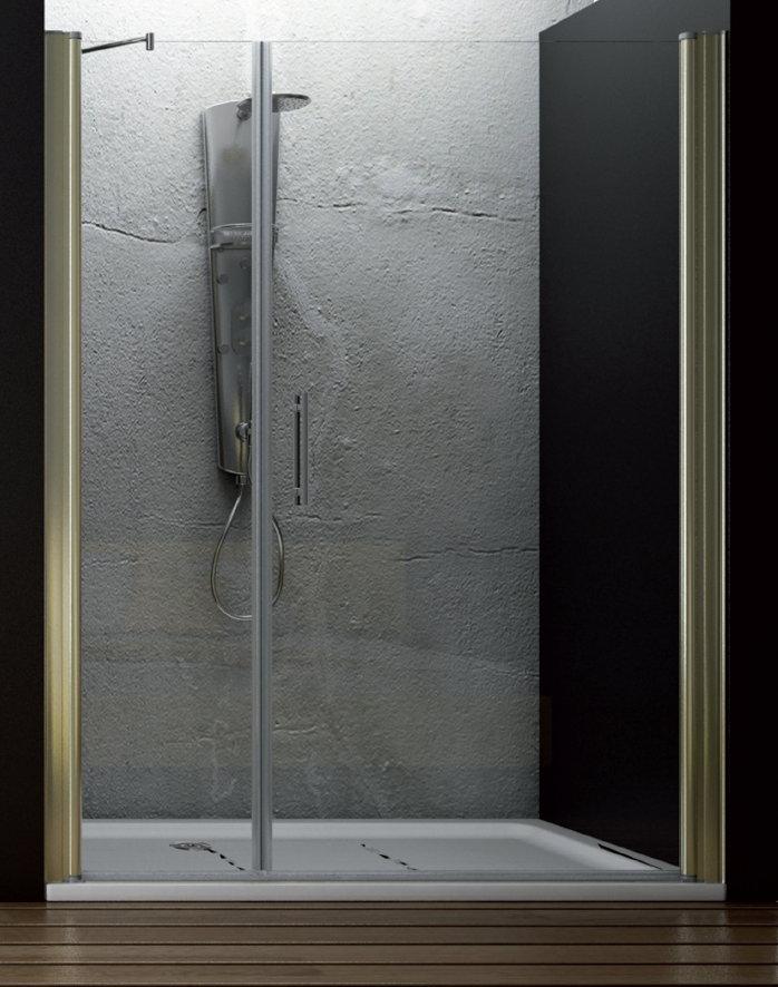 Hidroglass mampara de ducha modelo ameca de 1 fijo y 1 for Mampara ducha fijo abatible