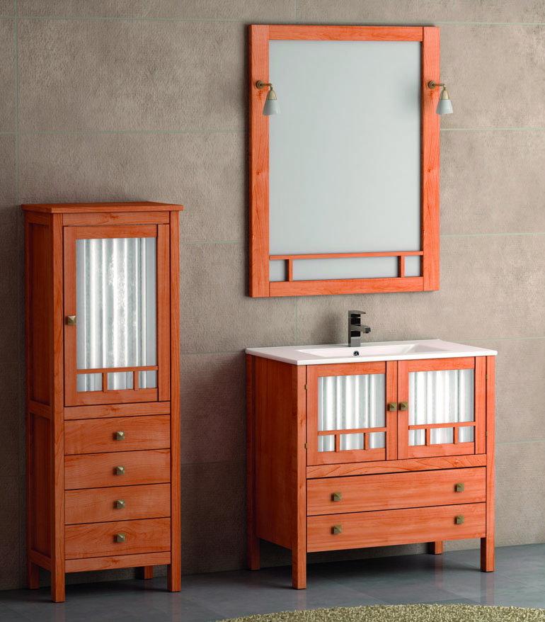 Mueble de ba o de madera batoni modelo merida 80 cm for Muebles de bano de 80