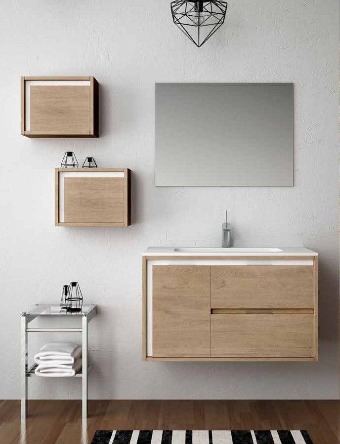 Muebles ba o natugama modelo ribera suspendido de 70 cm for Muebles de bano 140 cm