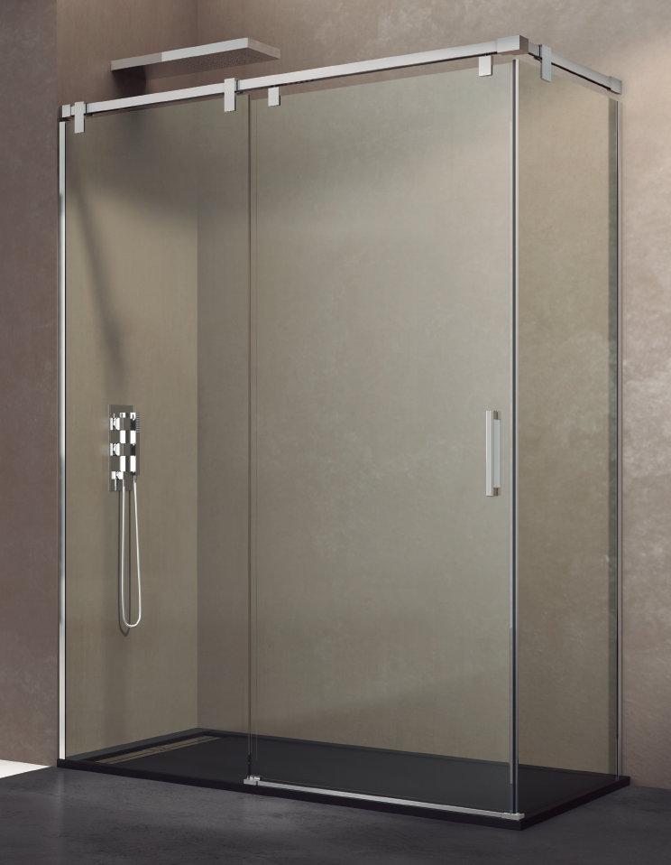 Mamparas ducha gme futura 1 fijo y 1 corredera con lateral - Mamparas ducha online ...