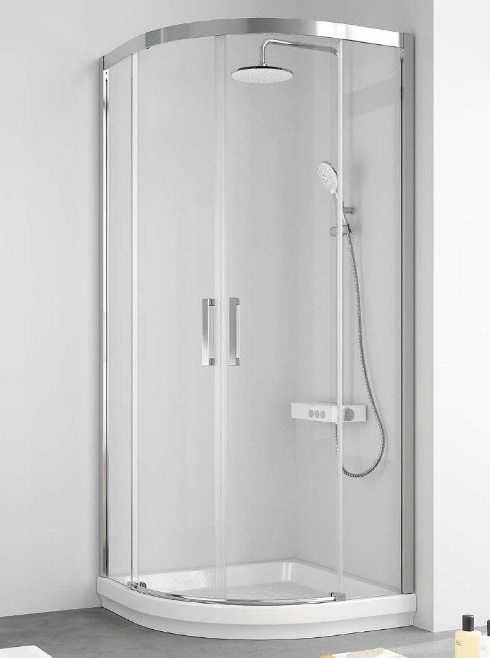 Mamparas ducha kassandra 400 semicircular - Mampara para ducha ...