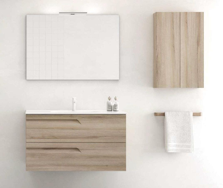 Mueble de ba o royo modelo vitale suspendido de 100cm for Mueble 10 cm fondo