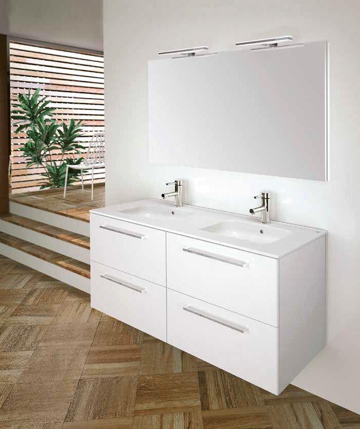 Mueble de ba o royo modelo easy suspendido de 120cm fondo for Mueble 45 cm ancho