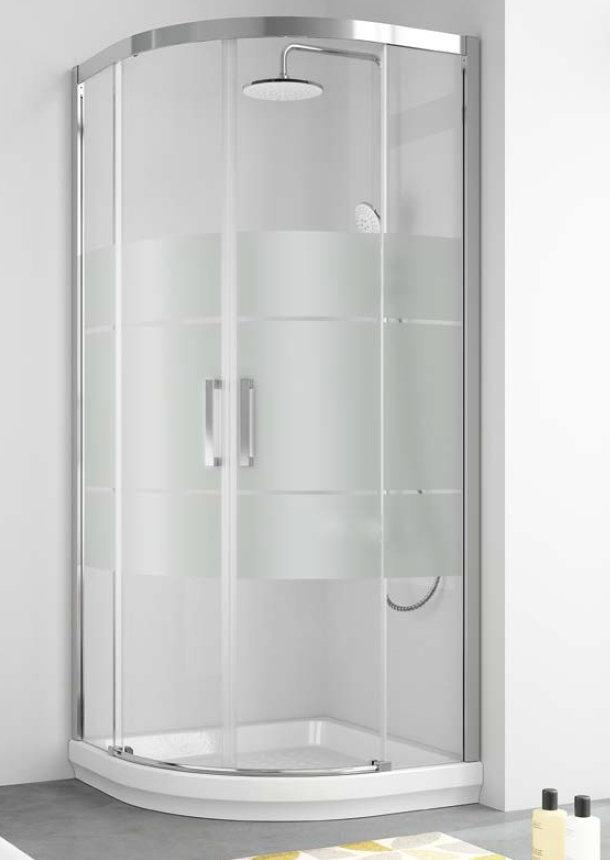 Mamparas ducha kassandra 400 decorado clio semicircular for Mamparas de ducha 80x80