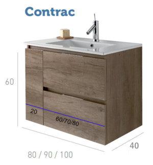 Socimobel mueble de ba o modelo contrac suspendido fondo for Mueble 10 cm fondo