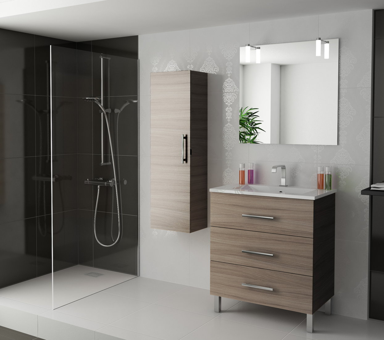 Viberco mueble de ba o con patas modelo lydia 80 cm for Muebles de lavabo de 70 cm
