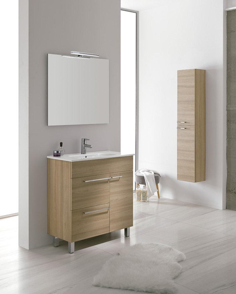 Mueble de ba o royo modelo confort 80 cm con patas fondo for Mueble 45 cm ancho