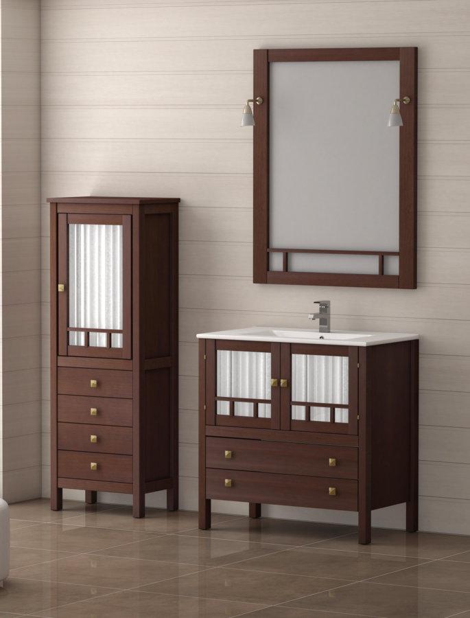 Mueble de ba o de madera batoni modelo merida 80 cm for Muebles para bano de madera